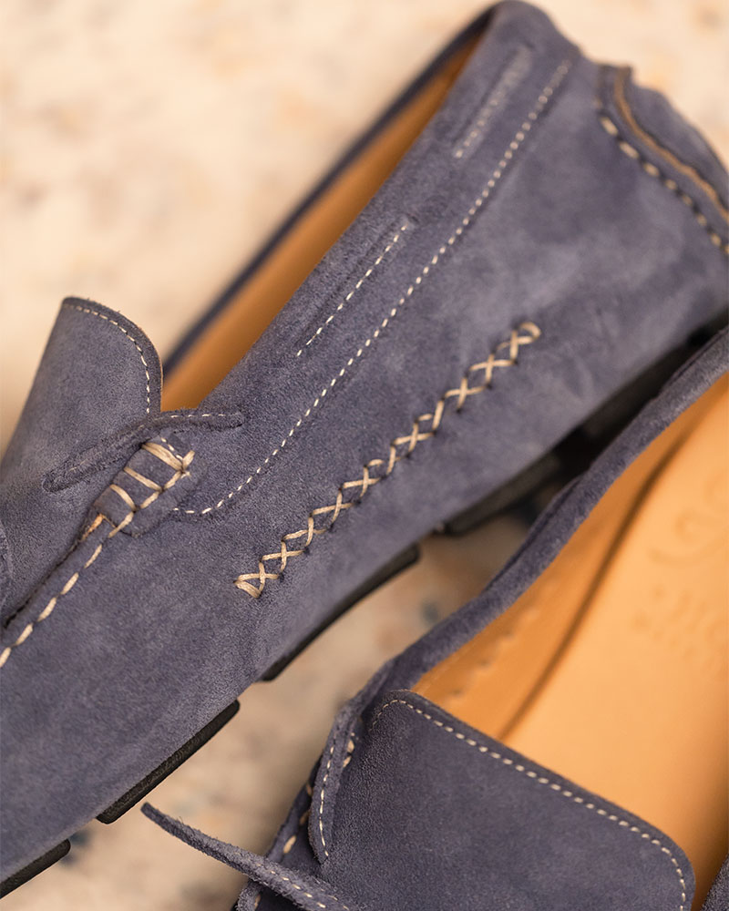 Calzoleria Toscana|3244 Suede Driving Shoes・Jeans