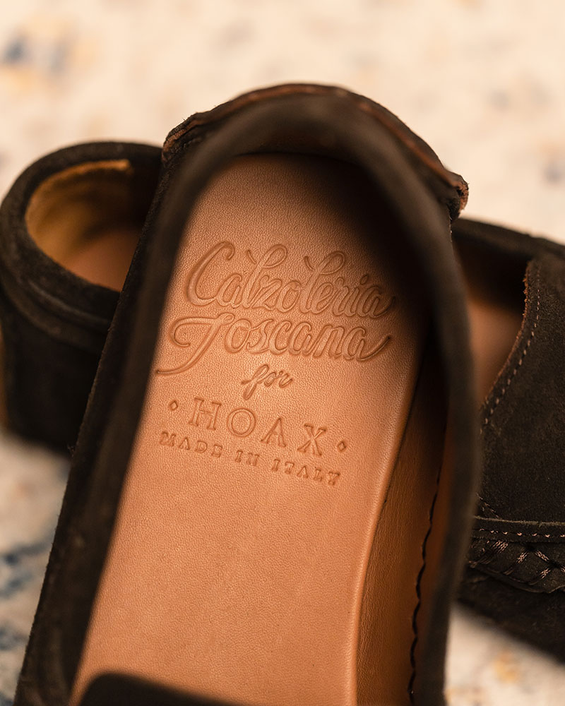 Calzoleria Toscana|3244 Suede Driving Shoes・Olive