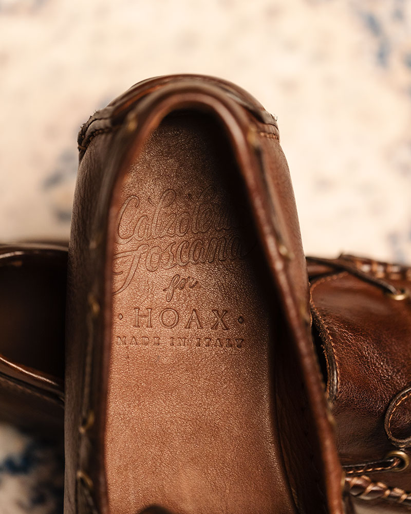 Calzoleria Toscana|4535 Dip Dyed Driving Shoes・Brown