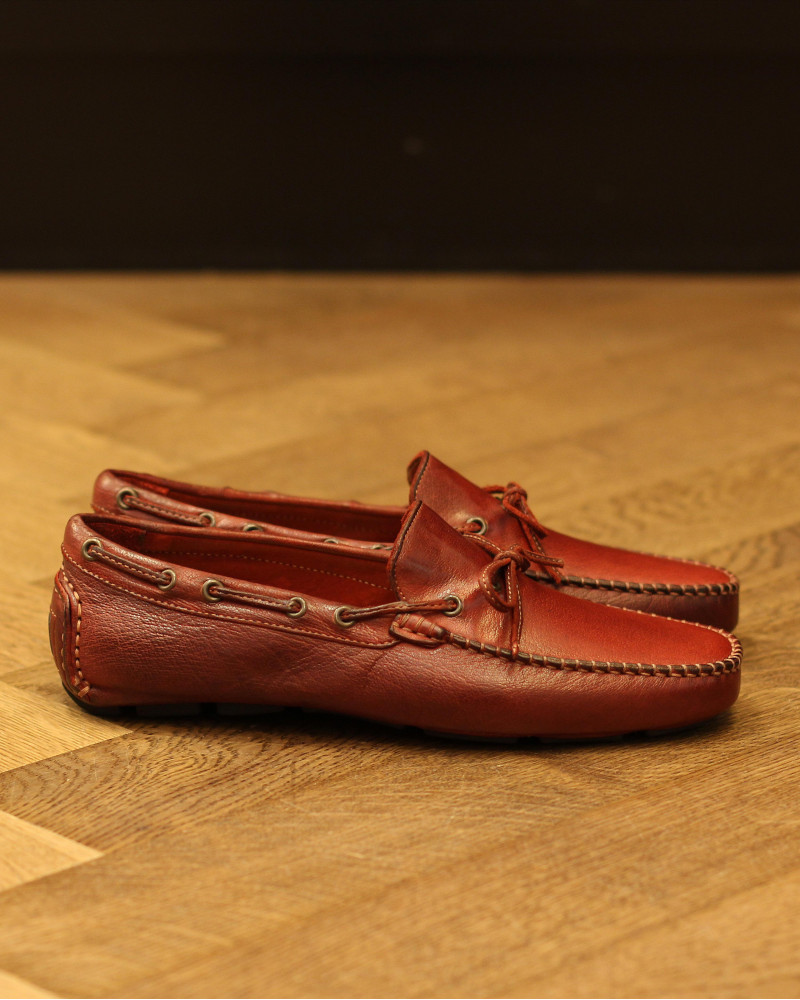 Calzoleria Toscana|4535 Dip Dyed Driving Shoes・Cherry