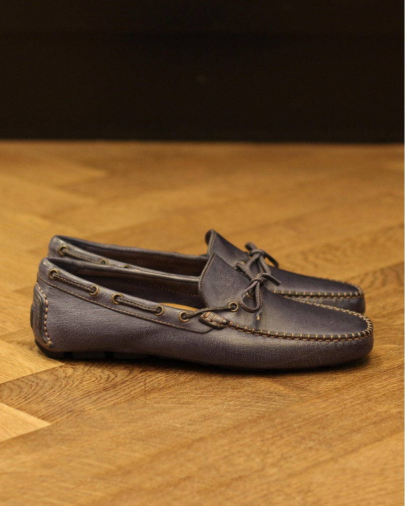 Calzoleria Toscana|4535 Dip Dyed Driving Shoes・Denim