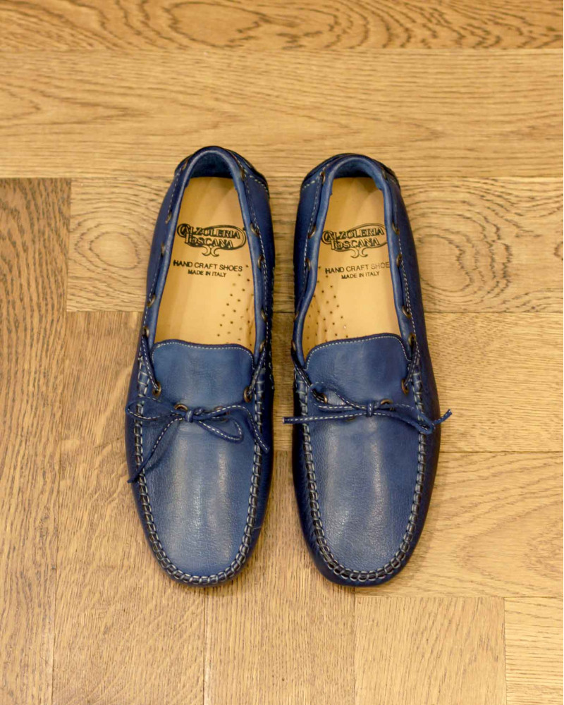 Calzoleria Toscana|4535 Dip Dyed Driving Shoes・Indigo Blue