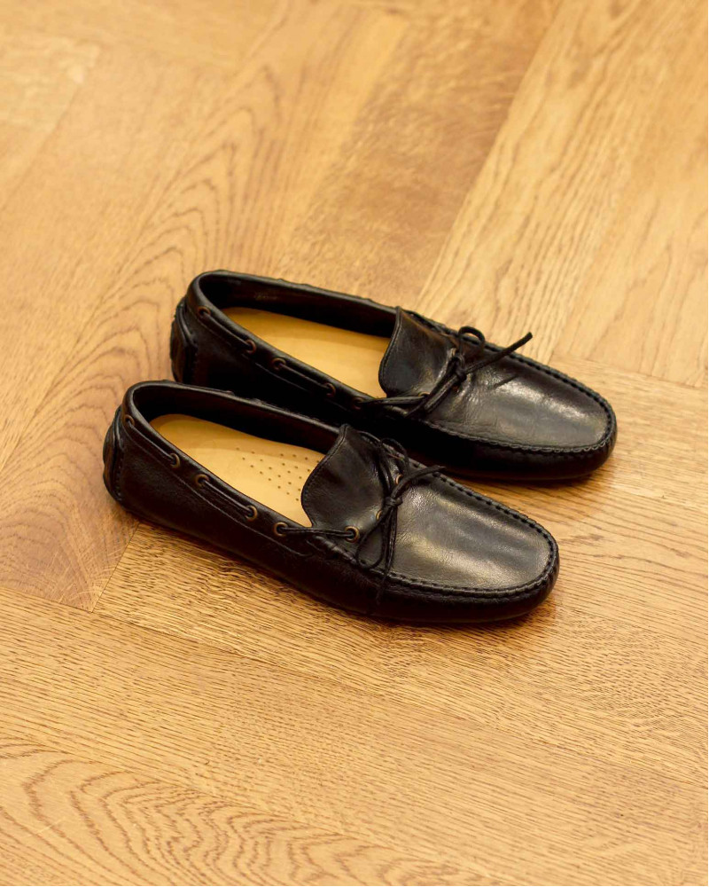 Calzoleria Toscana|4535 Dip Dyed Driving Shoes・Black