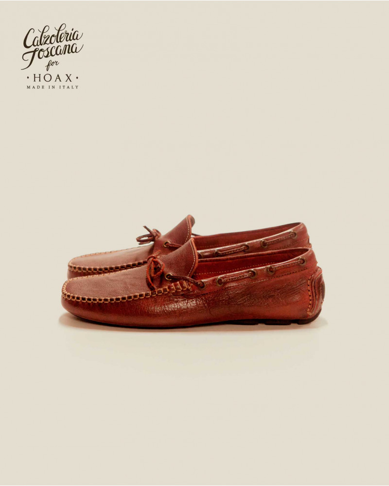 Calzoleria Toscana 4535 Dip Dyed Driving Shoes・Cherry