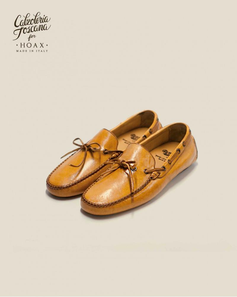 Calzoleria Toscana|4535 Dip Dyed Driving Shoes・Mahogany