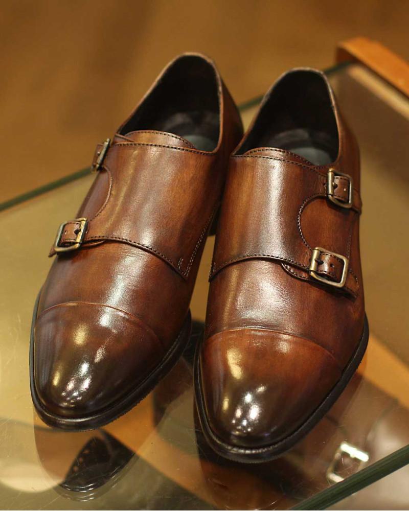 Calzoleria Toscana 5667 Double Monk Strap Shoes・Mahogany Patina