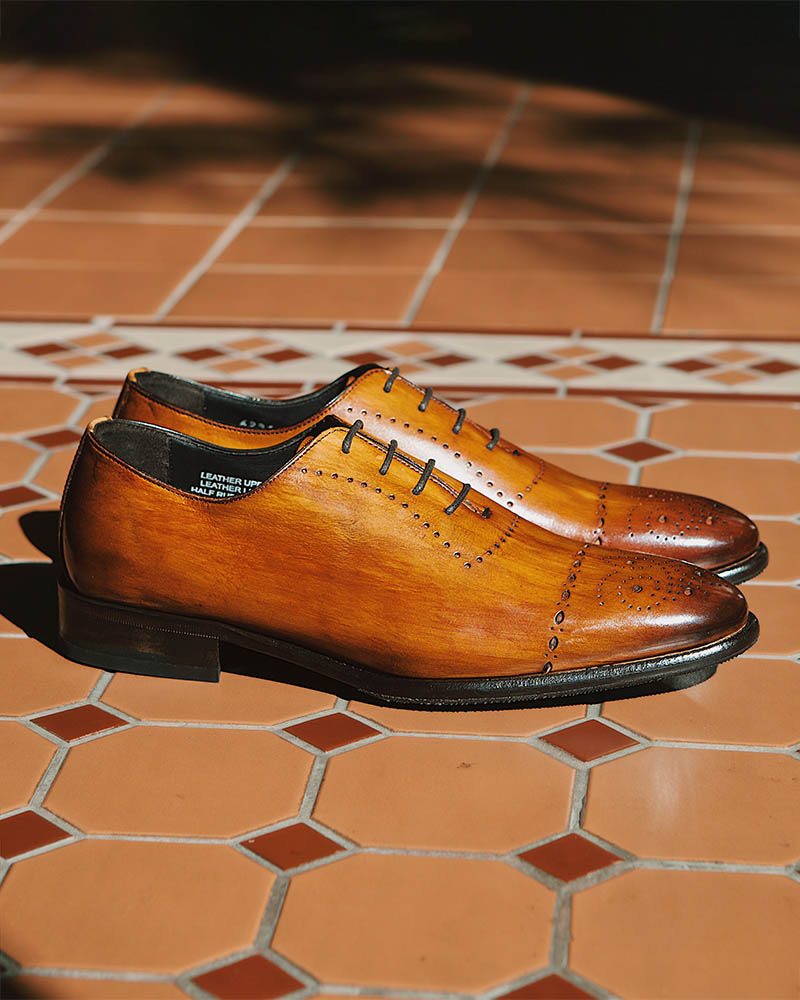 Calzoleria Toscana|6226 Whole Cut Semi Brogue・Patina Dark Caramel