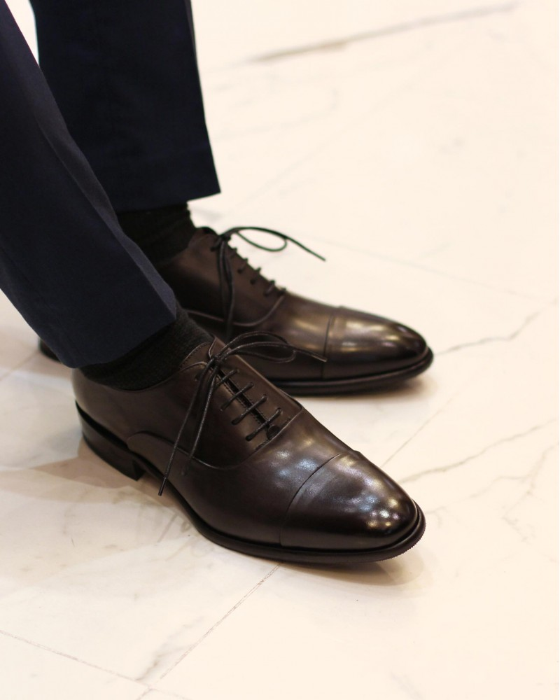 Calzoleria Toscana|8584 Captoe Oxford・Patina Graphite