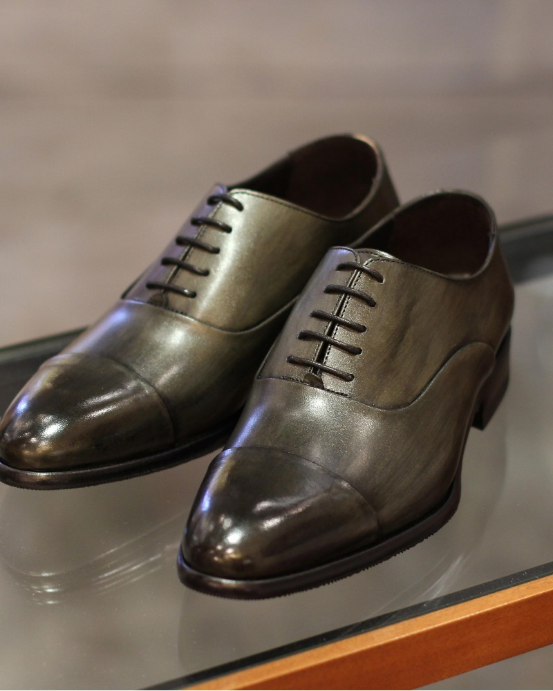 Calzoleria Toscana|8584 Captoe Oxford・Patina Emerald