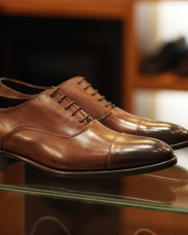 Calzoleria Toscana|8584 Captoe Oxford・Patina Brown