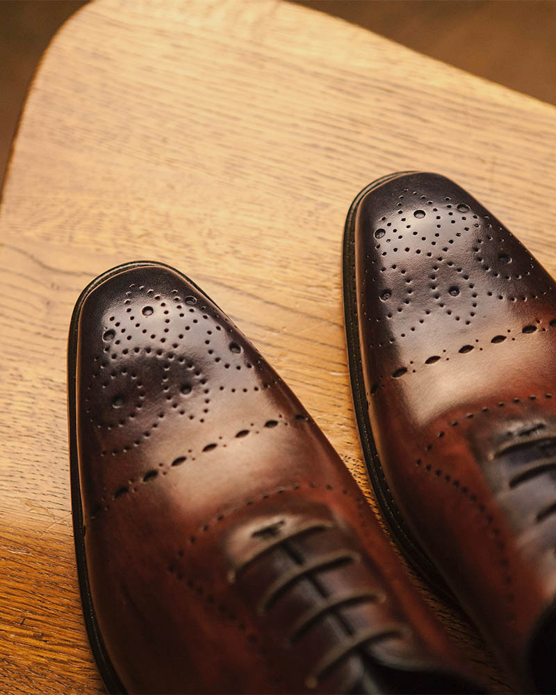 Calzoleria Toscana for HOAX 10TH|5246 Two-tone Whole Cut Semi Brogue・Patina Moor/ Blue