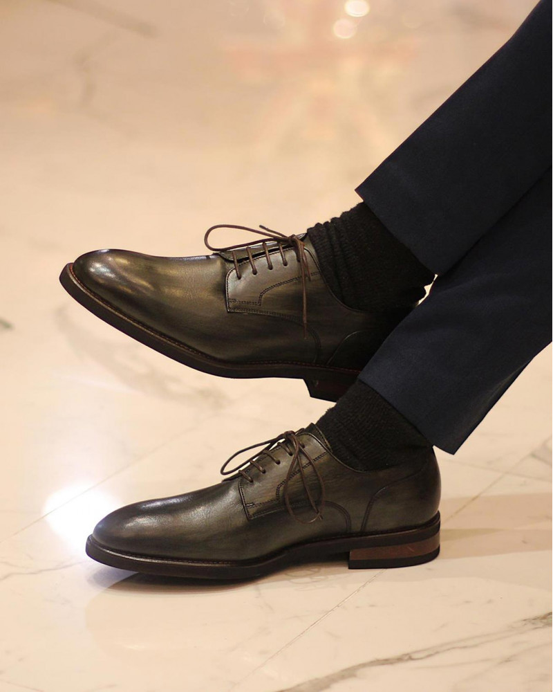Calzoleria Toscana|8938 Plain Toe Derby・Patina Emerald