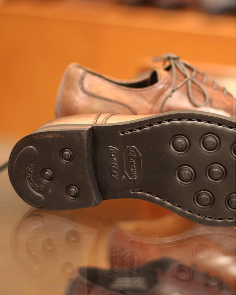 Calzoleria Toscana|8938 Plain Toe Derby・Patina Graphite