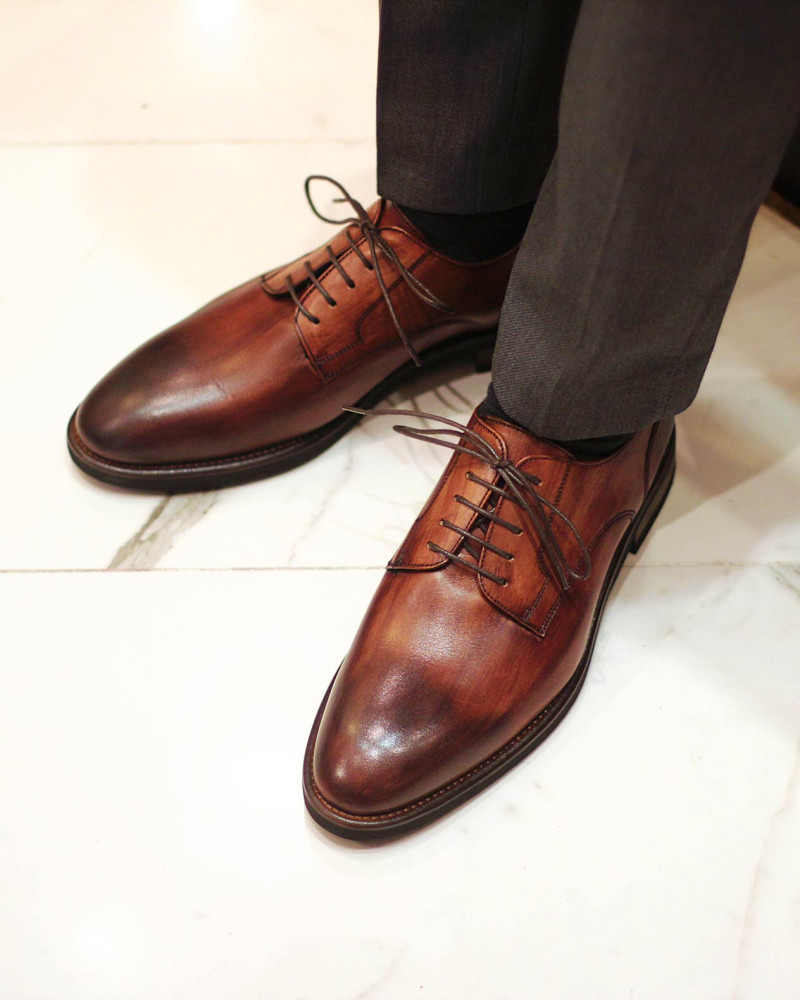 Calzoleria Toscana|8938 Plain Toe Derby・Patina Wood