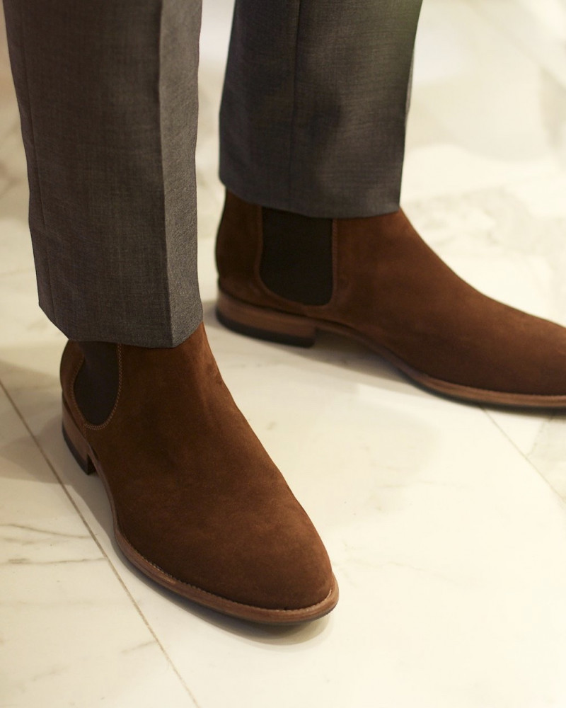 Calzoleria Toscana|Q756 Chelsea Boots.Polo Suede