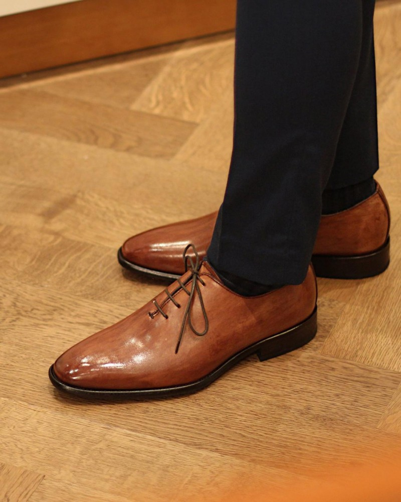 Calzoleria Toscana|H393 Whole Cut Oxford · Wood