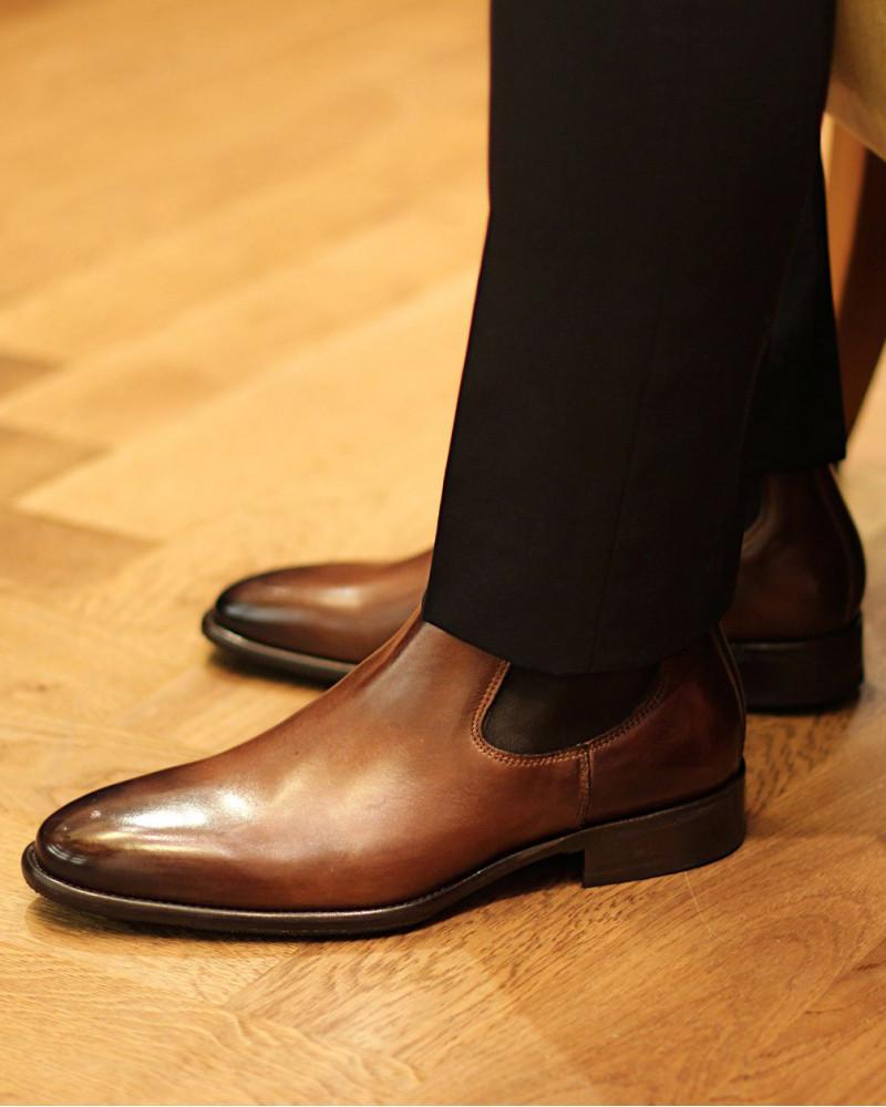 Calzoleria Toscana H233 Chelsea Boots.Cerris Patina