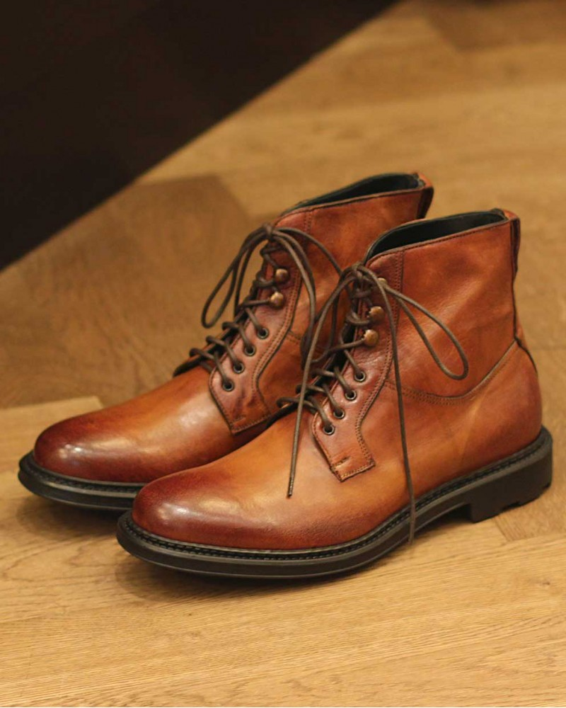 HOAX Made in Italy|Buffalo Combat Boots・Cuoio