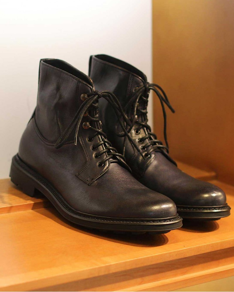 HOAX Made in Italy|Buffalo Combat Boots・Navy