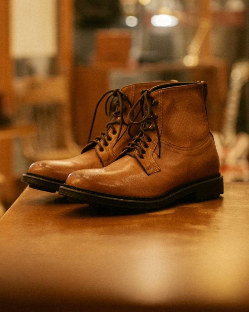 HOAX Made in Italy|Buffalo Combat Boots・Tan