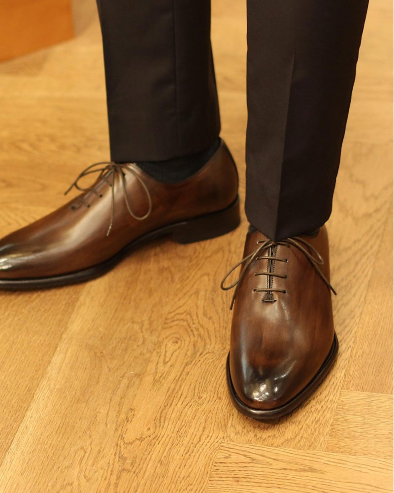 Calzoleria Toscana|1086 Whole cut Oxford・Patina Dark Brown