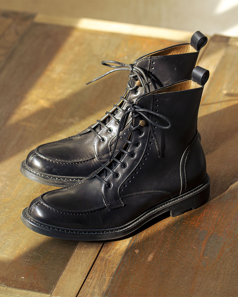 HOAX Made in Italy|Split Toe Boots・Black