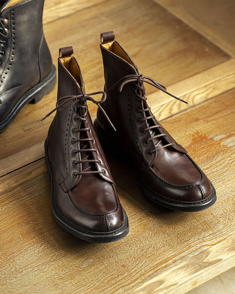 HOAX Made in Italy|Split Toe Boots・Dark Brown