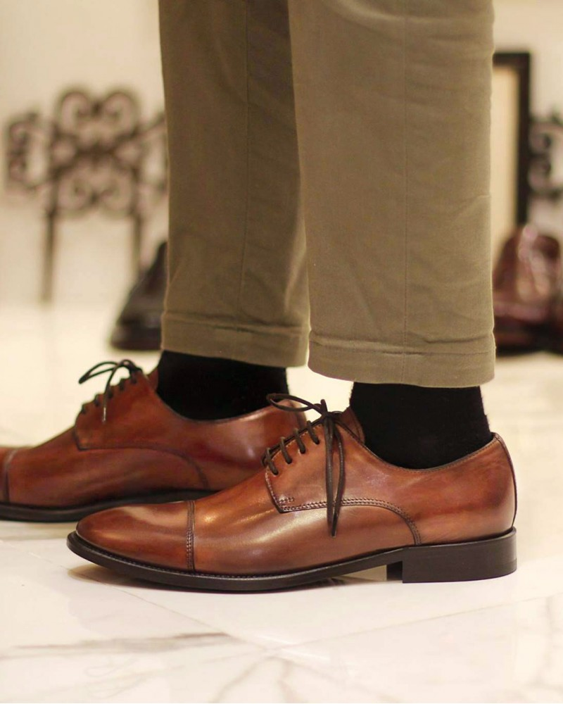 HOAX Made in Italy | 5539 Captoe Derby・Brandy