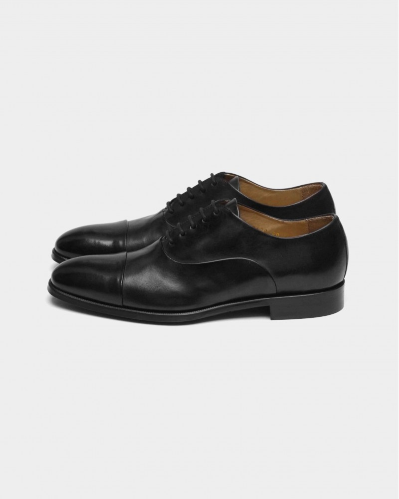 HOAX Made in Italy|7382 Two Tone Captoe Oxford・Black