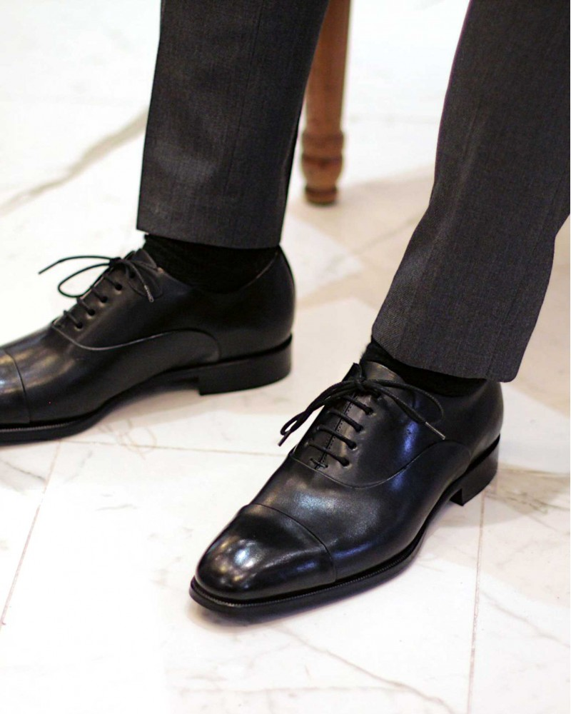 HOAX Made in Italy Two Tone Captoe Oxford・Black
