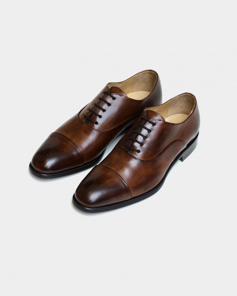 HOAX Made in Italy Two Tone Captoe Oxford・Brandy