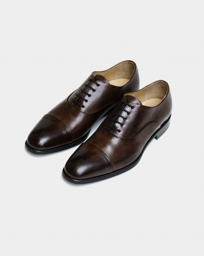 HOAX Made in Italy Two Tone Captoe Oxford・Dark Brown