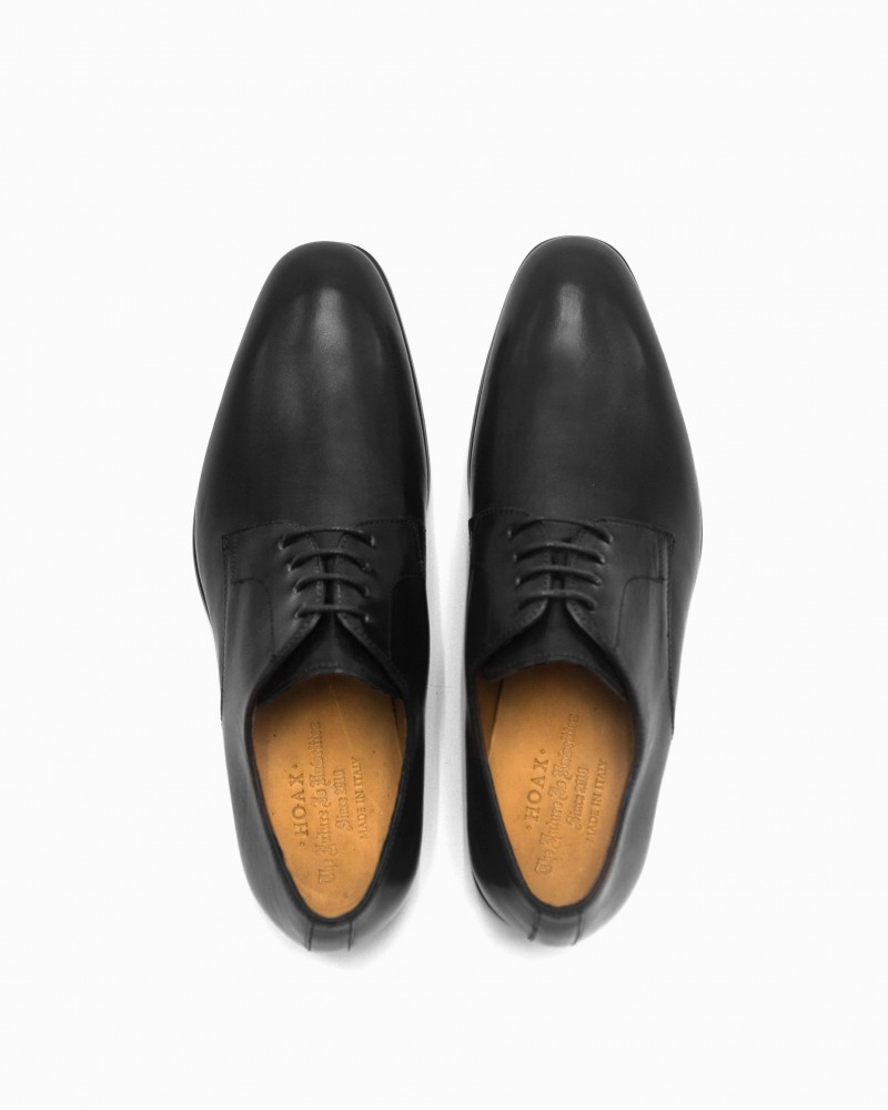 HOAX Made in Italy|7385 Plain Toe Derby・Black