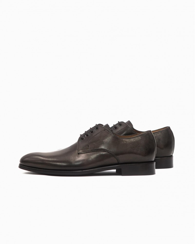 HOAX Made in Italy Plain Toe Derby・Chocolate