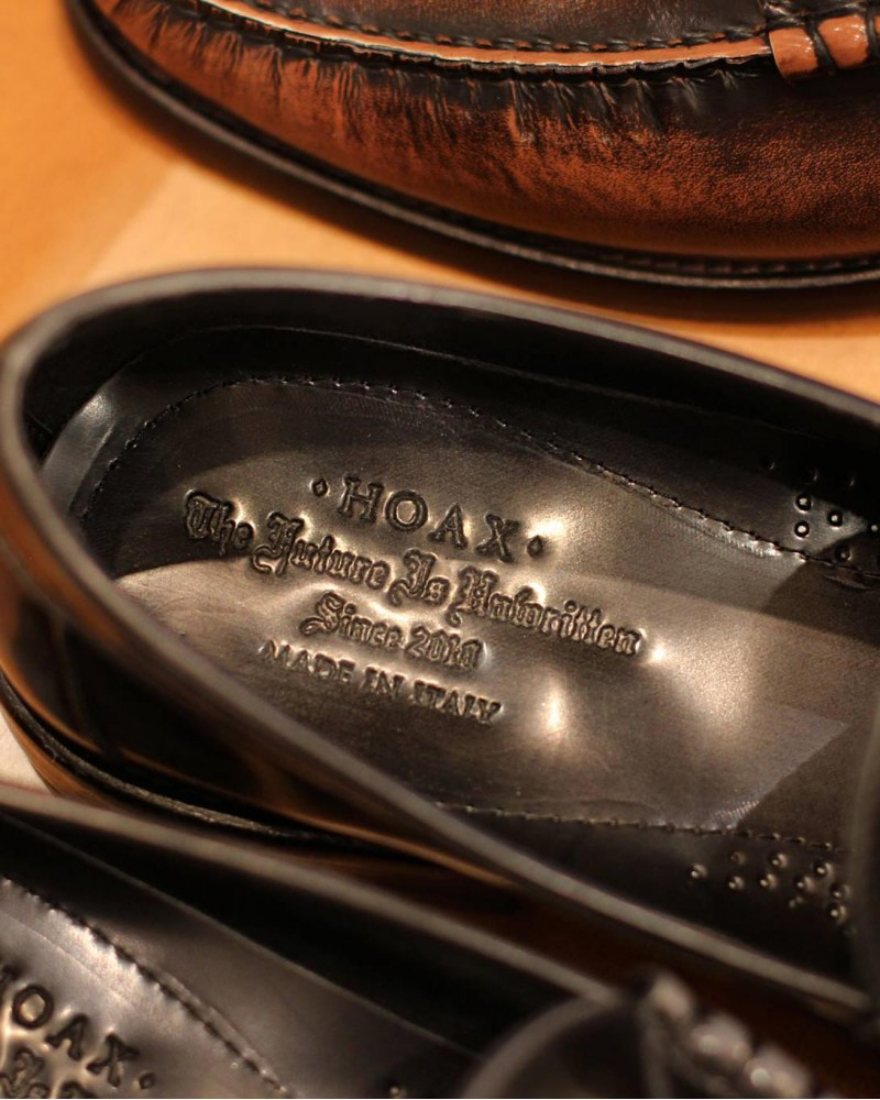 HOAX Made in Italy|7870 Penny Loafers・Grigio