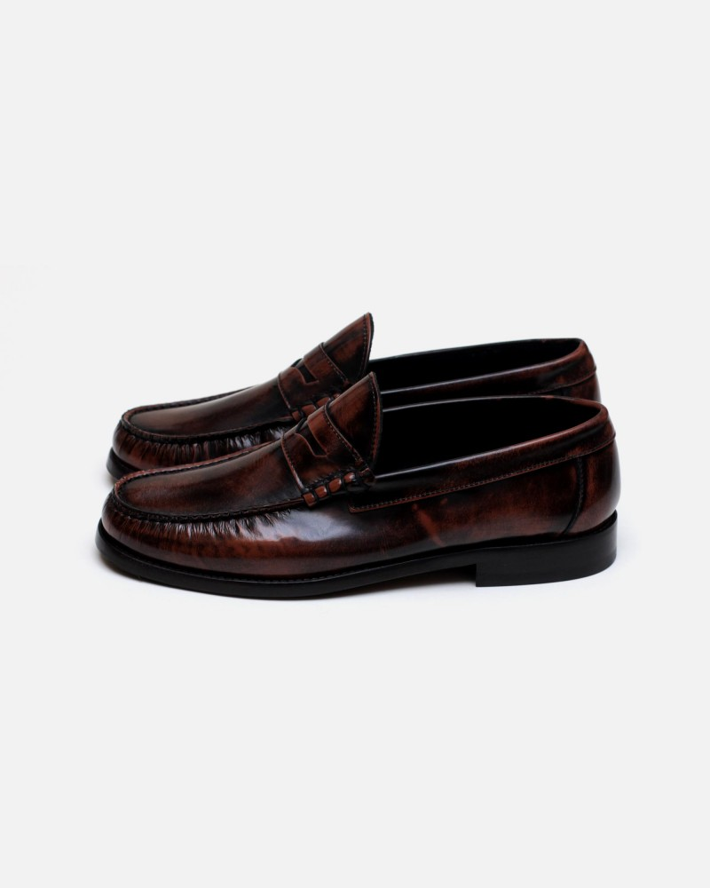 HOAX Made in Italy|7870 Penny Loafers・Cognac