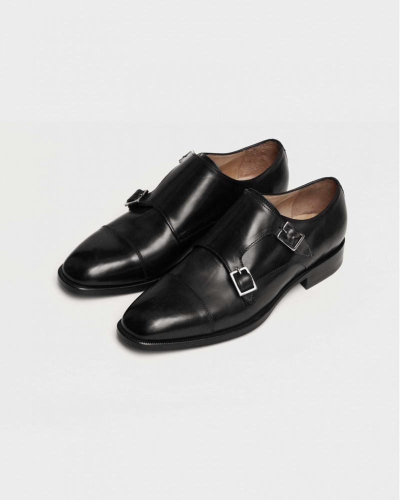 HOAX Made In Italy|8584 Double Monk Strap・Black