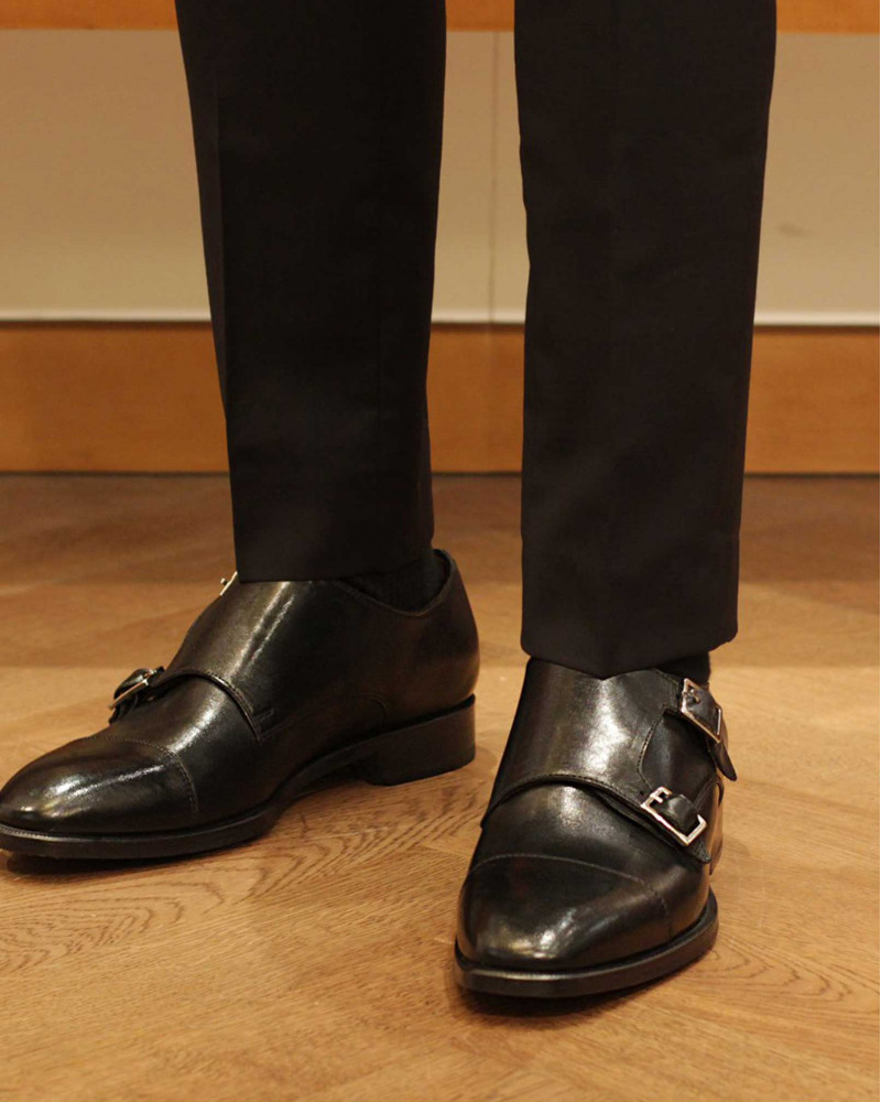 HOAX Made in Italy Double Monk Strap・Black
