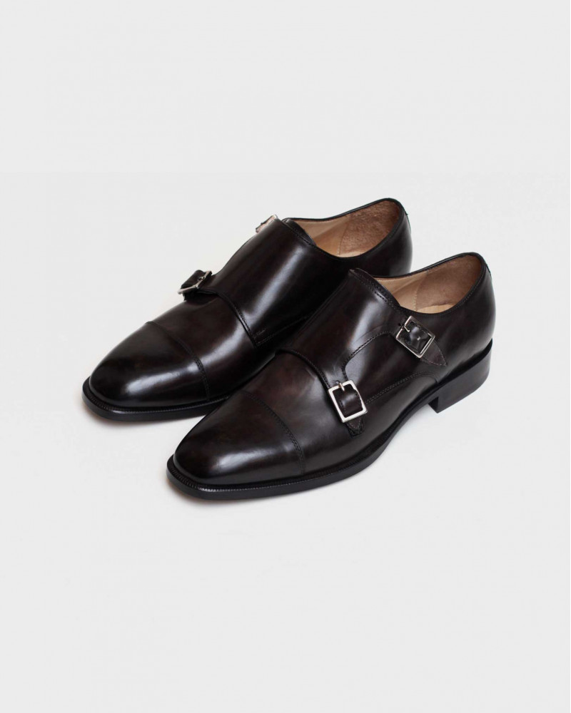 HOAX Made In Italy|8584 Double Monk Strap・Chocolate