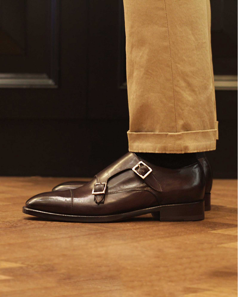 HOAX Made In Italy Double Monk Strap・Chocolate