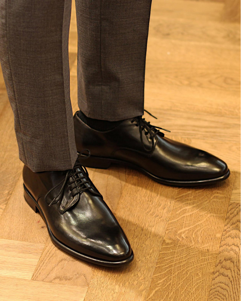 HOAX Made in Italy|8605 Plain Toe Derby・Black