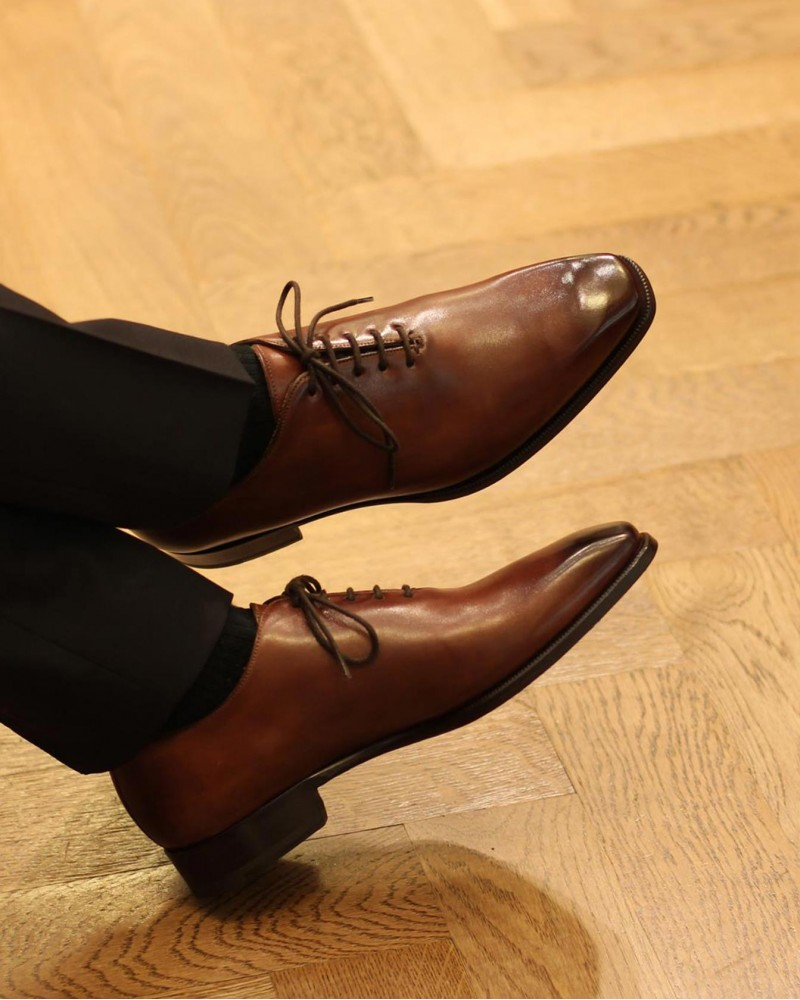 HOAX Made in Italy | 8728 Whole Cut Oxford・Brandy