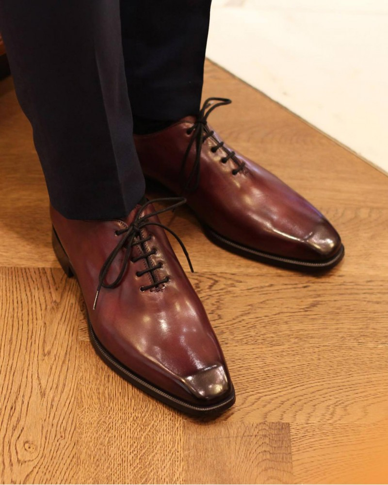 HOAX Made in Italy | 8728 Whole Cut Oxford・Bordo