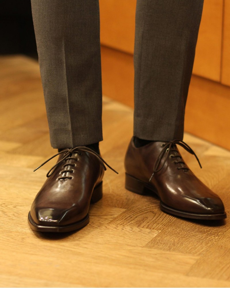 HOAX Made in Italy | 8728 Whole Cut Oxford・Chocolate