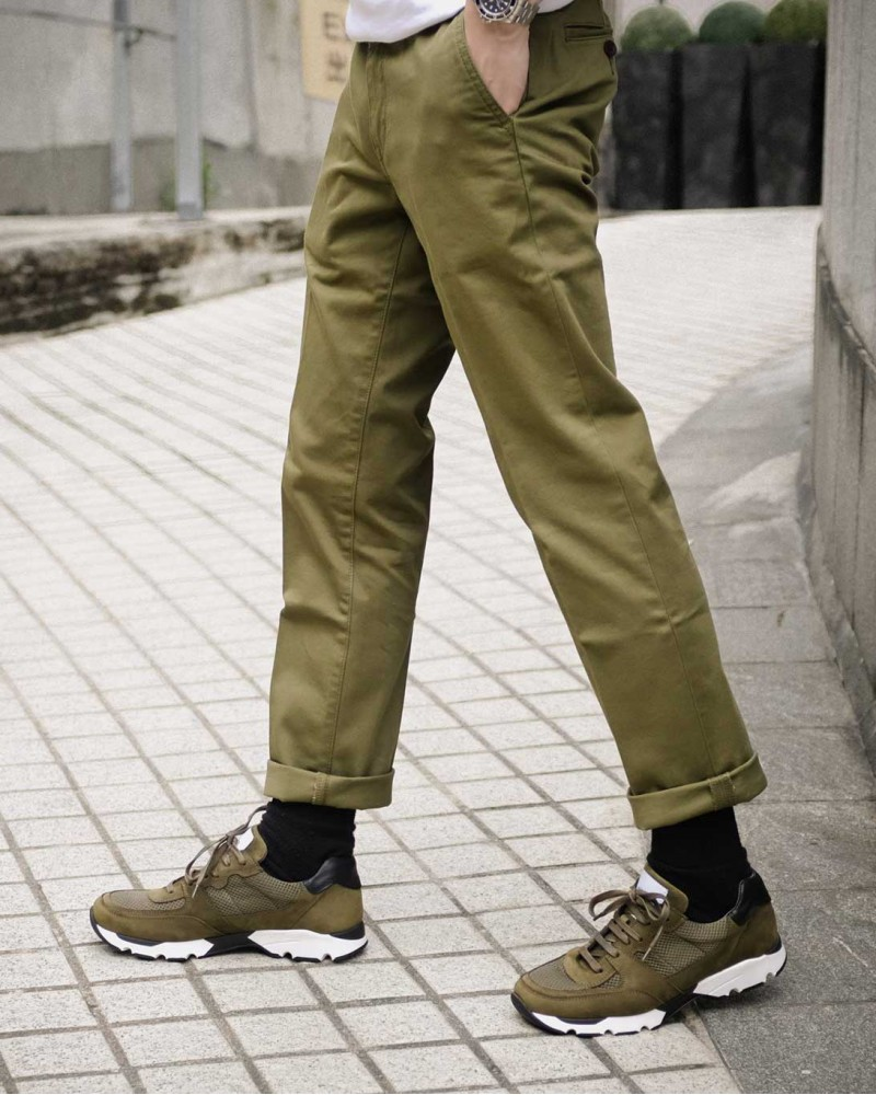 Japan Blue Jeans|Comb French Work Chino.Olive