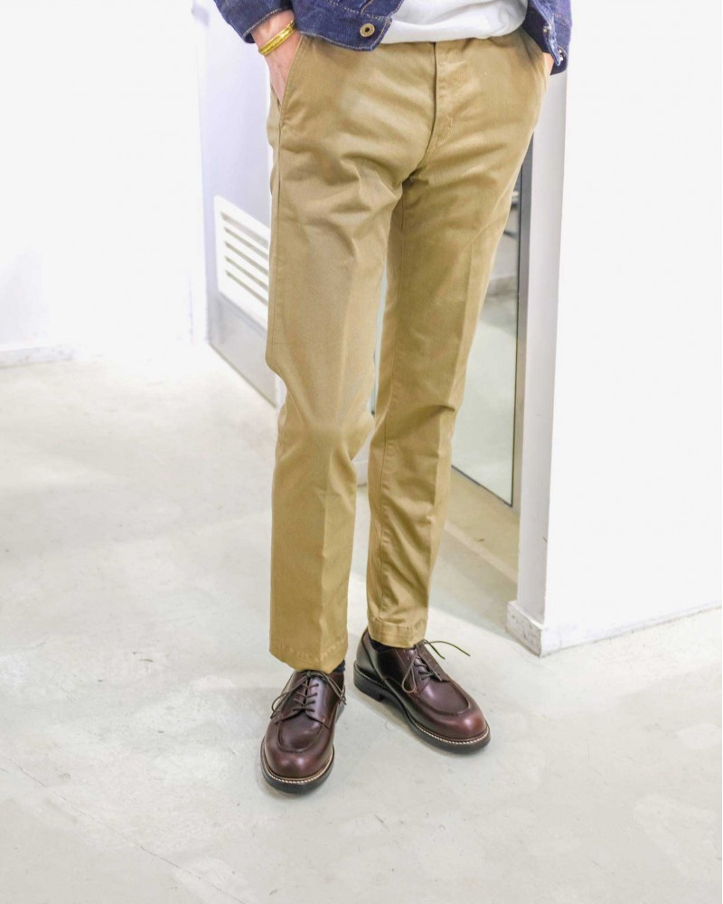 Japan Blue Jeans|Comb French Work Chino.Beige