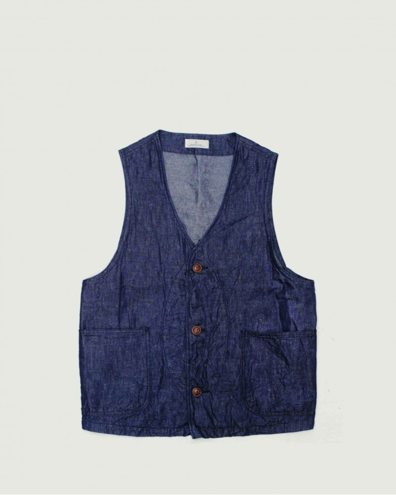 Japan Blue Jeans City Hunting Vest・Indigo