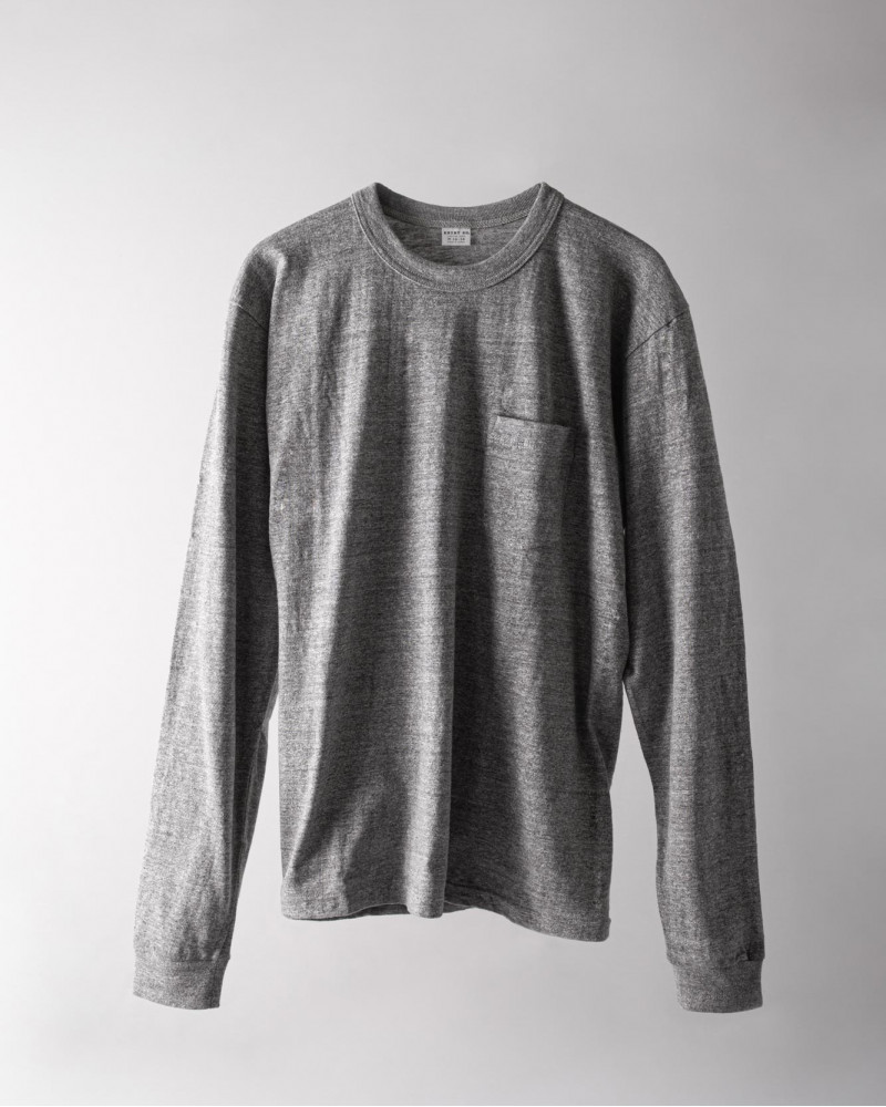 ENTRY SG|Pueblo Long Sleeve Pocket Tee・Graphite