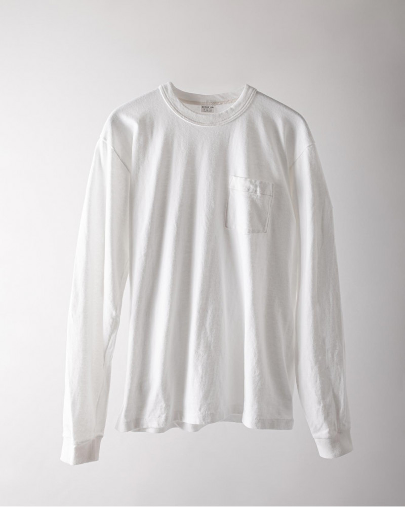 ENTRY SG|Pueblo Long Sleeve Pocket Tee・Pure White