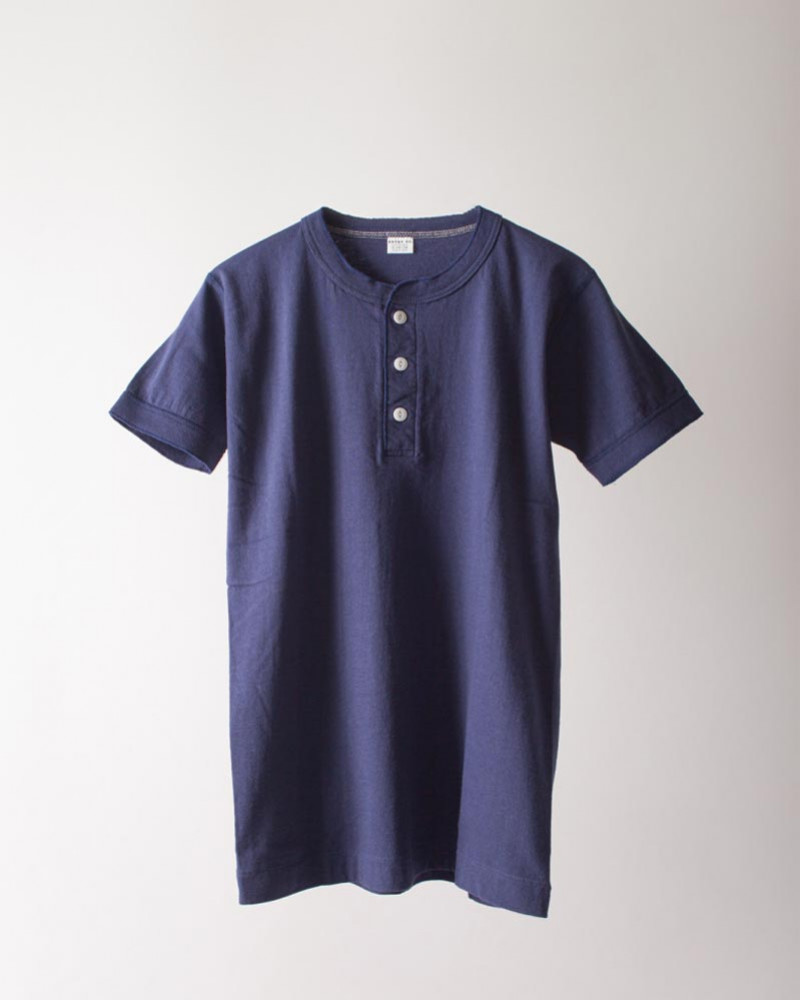 ENTRY SG|Sonora Henley Neck Tee・Navy